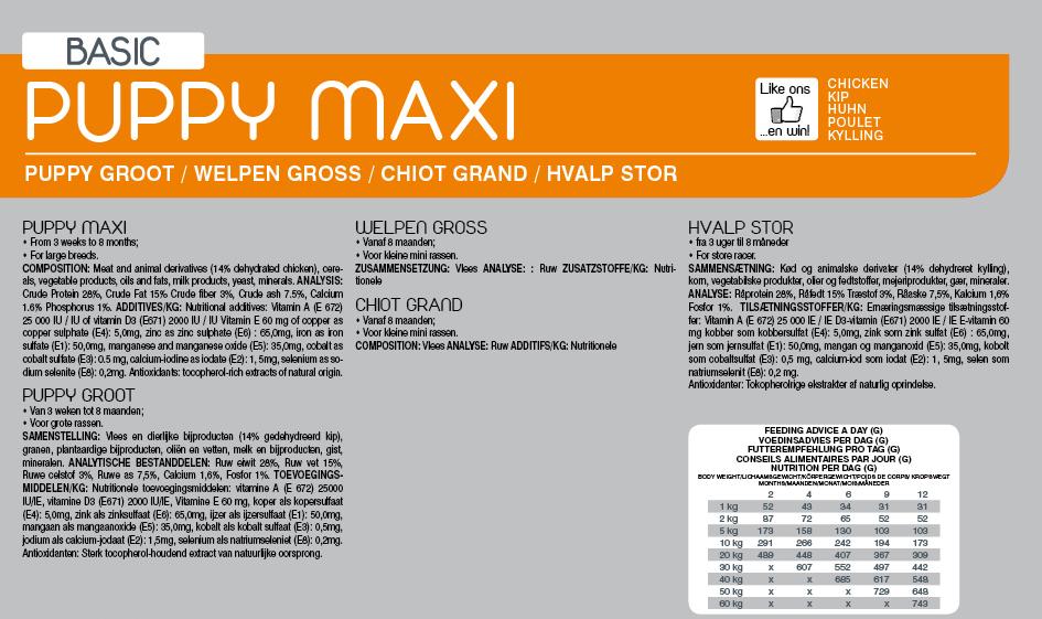 Yami dog , basic puppy maxi