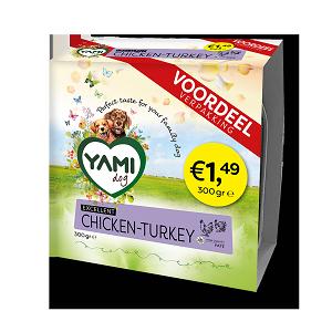 Yami vleeskuipjes kip/kalkoen 300gr